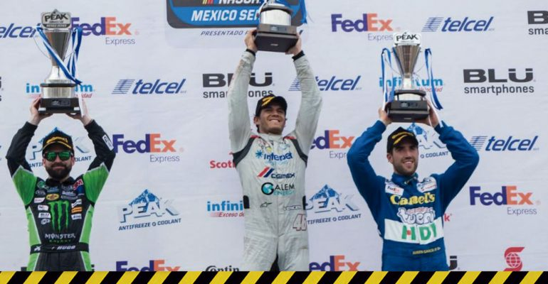 ¡Rubén García Jr logra el 3er lugar en la Nascar Peak MX Guadalajara!