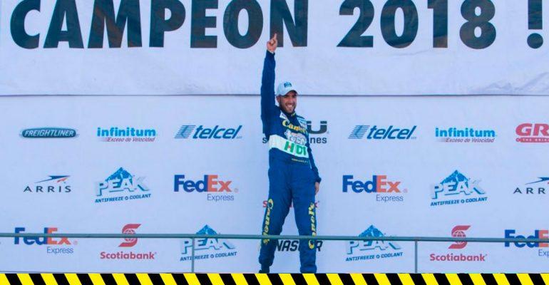 Rubén García logra su segundo título de Nascar Peak